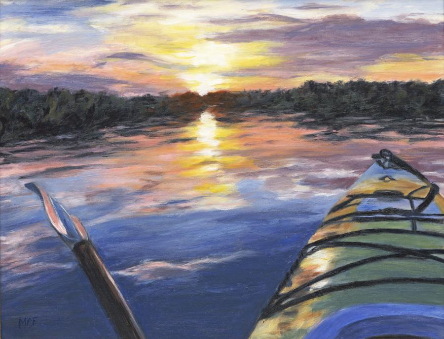 """""""Kayak""""  9×12 oilpainting"""