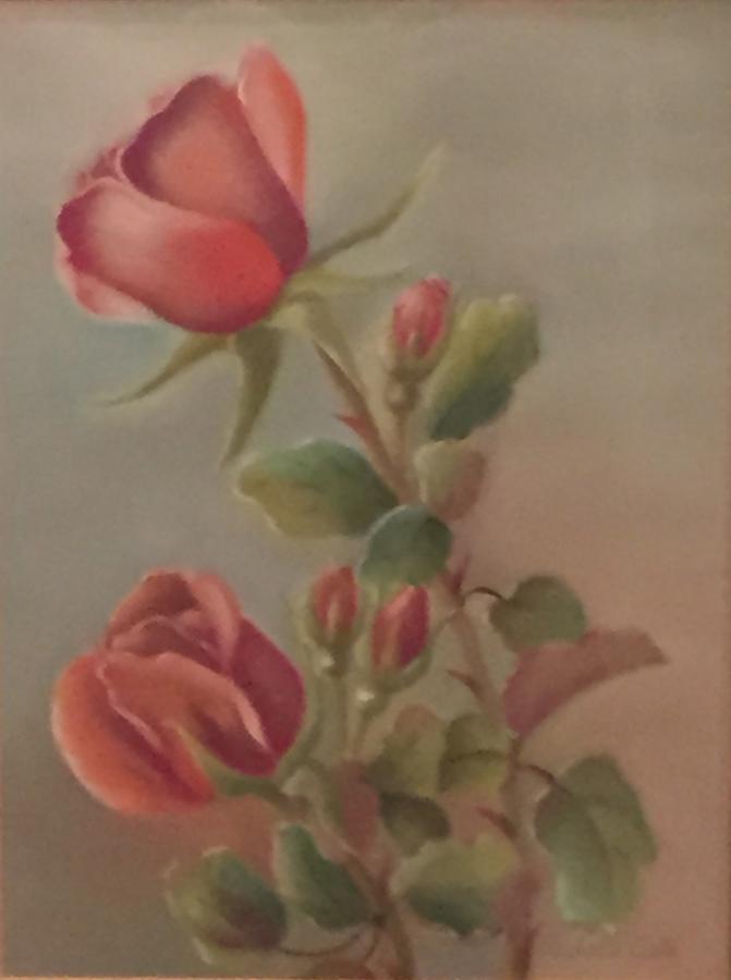 """Roses""  12×9 Pastel"