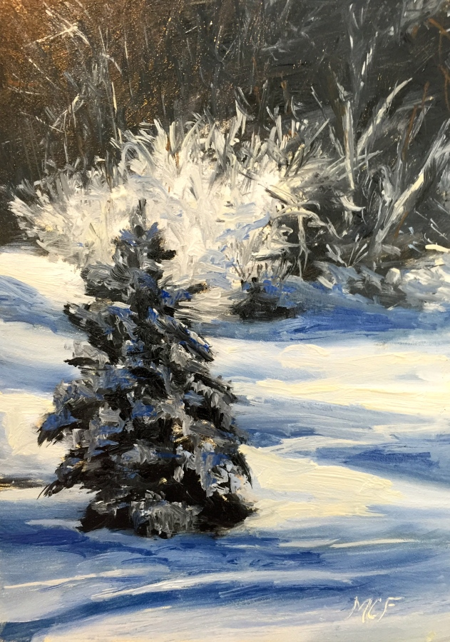 """Winter Wonderland"" 7×5 Oil Painting"