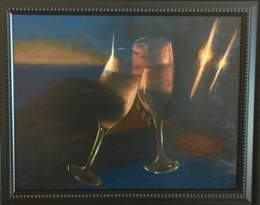 """Cheers"" 11×14 Oil Painting"
