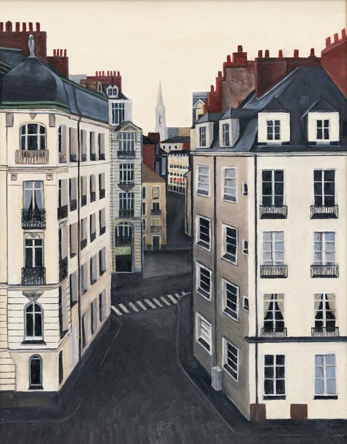 """""""Nantes"""" 18×14 Oil"""